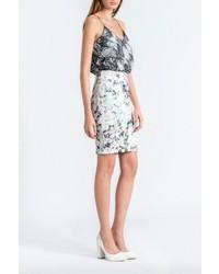 Frnch Digital Floral Skirt