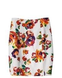 Oxford Collections, Inc. Ambar Pencil Skirt Rose Print 2