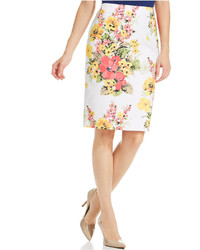 Charter Club Placed Floral Pencil Skirt