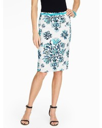 Talbots Etched Floral Pencil Skirt