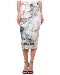 Ted Baker Tile Floral Midi Skirt