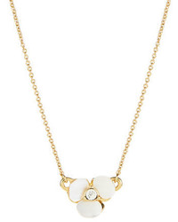 Kate Spade New York Disco Pansy Mother Of Pearl Pendant Necklace