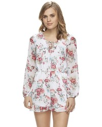 Disney S Beauty And The Beast Juniors Floral Romper