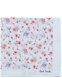 Floral pattern pocket square bluered medium 242627