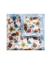 Eton Retro Flower Silk Pocket Square