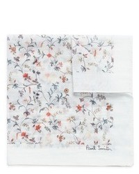 Paul Smith Vine Floral Print Cotton Silk Pocket Square