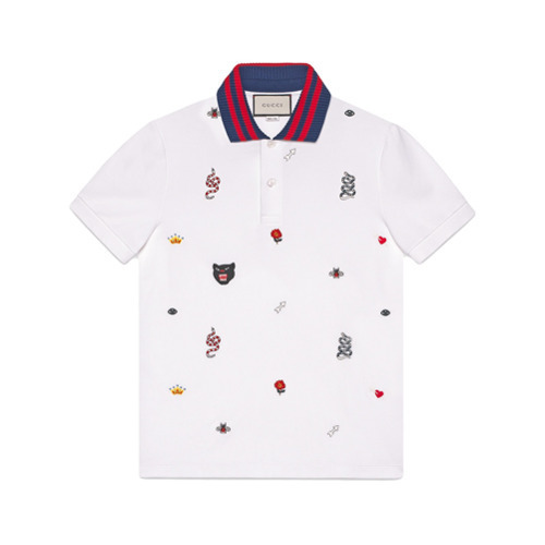 4baa1bc3a1f3 Gucci Cotton Polo With Embroideries, $623 | farfetch.com | Lookastic.com