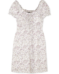 J.Crew Shirred Floral Print Voile Mini Dress