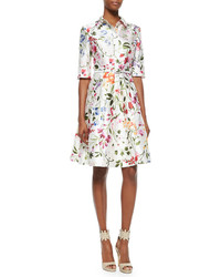 White Floral Shirtdress