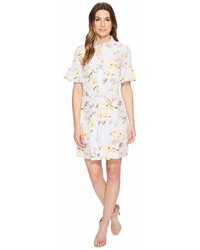CeCe Botanical Blooms Shirtdress W Ruffle Sleeve Dress