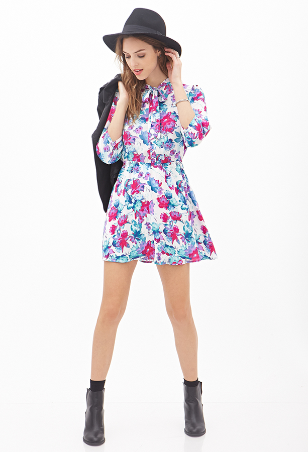 Forever 21 watercolor floral shirt dress where to buy for Where to buy a dress shirt