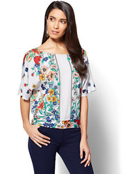 7th avenue dolman blouse floral print medium 3665725
