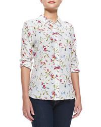 Brett floral print silk blouse medium 106796