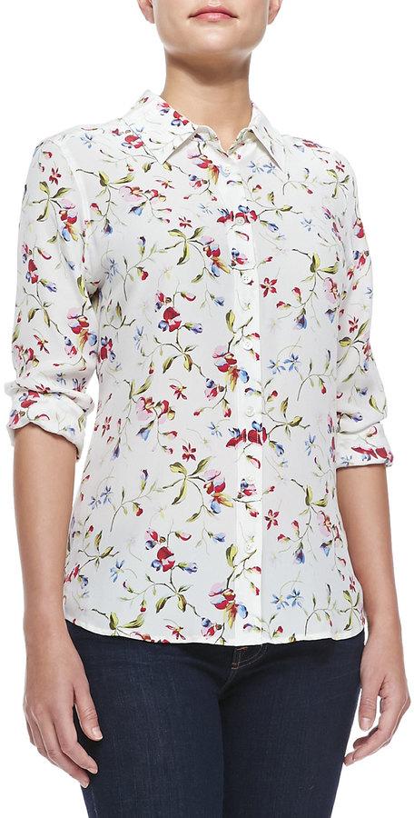e93a3489d65a5 ... Button Down Shirts Equipment Brett Floral Print Silk Blouse ...