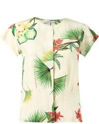 Isolda Short Sleeve Floral Blouse