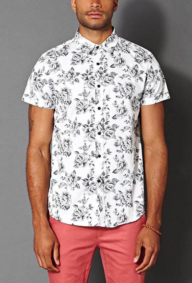 1c1079df2cc $19, 21men 21 Floral Print Shirt
