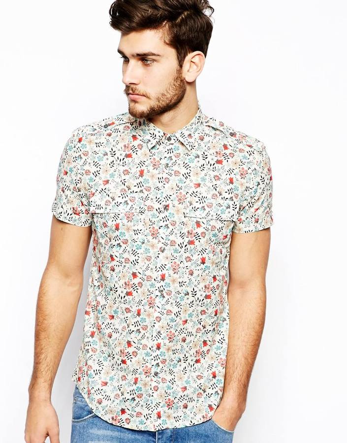 Antony Morato Shirt With Floral Print White | Where to buy & how ...
