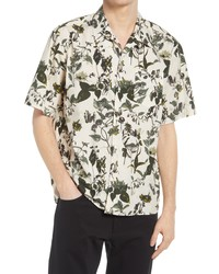 Norse Projects Carsten Botanical Print Short Sleeve Button Up Shirt