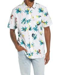 Vans Dart Classic Fit Floral Short Sleeve Button Up Shirt