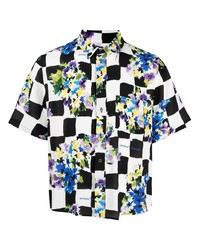 Off-White Floral Print Checked Shirt