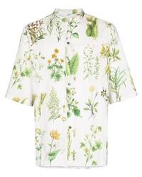 Salvatore Ferragamo Floral Print Short Sleeve Shirt