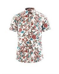 Men s White Floral Short Sleeve Shirts by Gucci  389879f7cea