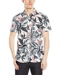 Lucky brand short sleeve linen shirt medium 541504