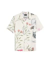 NEUW DENIM Reid Art Short Sleeve Button Up Camp Shirt