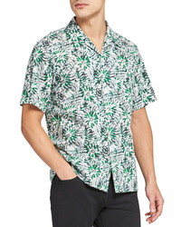 Theory Weldon Sketched Short Sleeve Button Up Camp Shirt