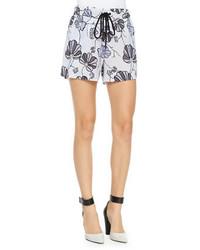 10 crosby floral boxer shorts w drawstring medium 240793