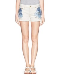 Tory Burch Amanda Floral Print Denim Shorts