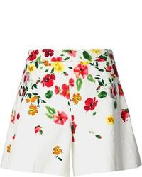 Oscar de la Renta Floral Wide Leg Short