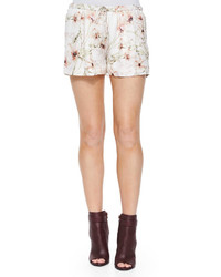 Haute Hippie Summer Floral Print Shorts