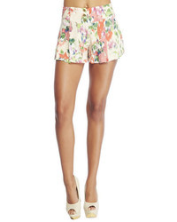 Watercolor floral wide leg soft shorts medium 47192