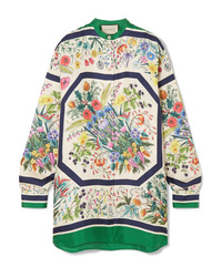 Gucci Oversized Printed Silk Twill Shirt