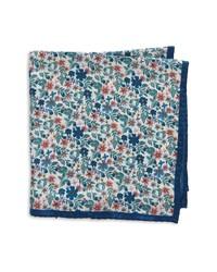 Nordstrom Floral Silk Pocket Square