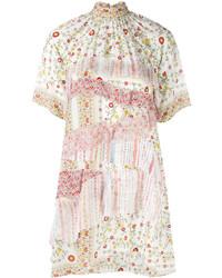 No.21 No21 High Neck Floral Shirt Dress