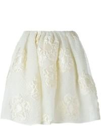 Fendi Floral Cloqu Skirt