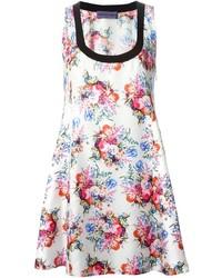 Emanuel floral flared dress medium 250210