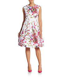 Chetta B Floral Print A Line Dress