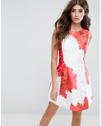 Floral skater mini dress medium 3674595