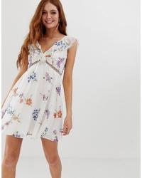 ASOS DESIGN Mini Dress Detail In Dainty Floral