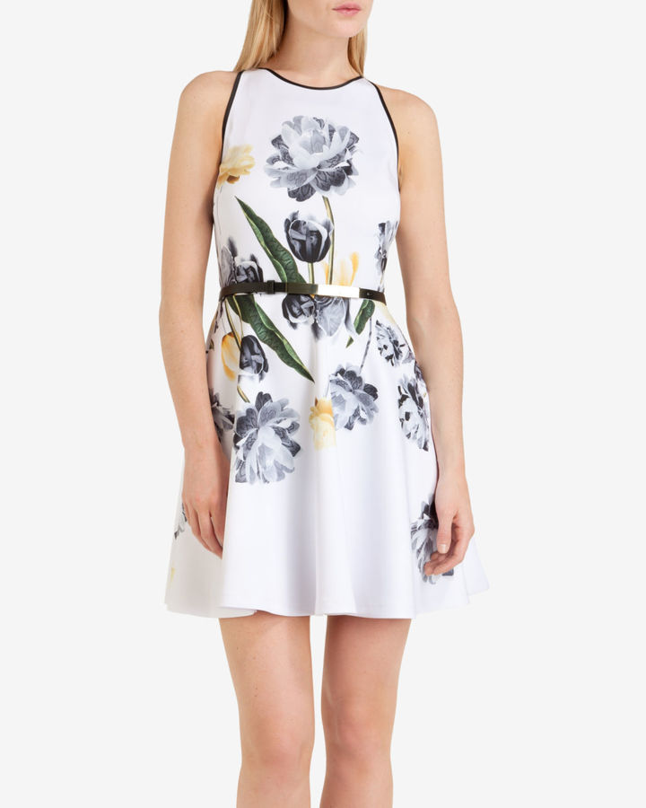 Ted baker symone paper petals skater dress where to buy how to wear white floral skater dresses ted baker symone paper petals skater dress mightylinksfo
