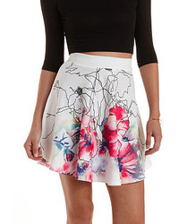 Charlotte russe watercolor floral skater skirt medium 279577