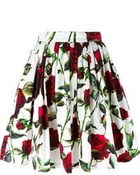 Dolce & Gabbana Rose Print A Line Skirt