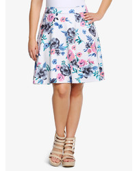 Floral mini skater skirt medium 279578