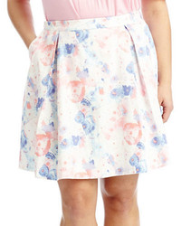 Modamix plus pleated floral skirt medium 3674696