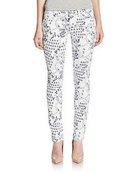 Floral print skinny jeans medium 424998