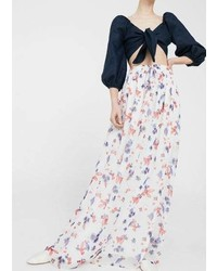 Mango Floral Long Skirt