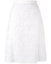 Burberry Floral Macram Skirt